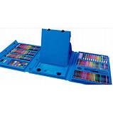 Набор для рисования и творчества в чемоданчике с мольбертом Super Mega Art Set Голубой 208 предметов(GS07009), фото 6