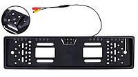 Камера заднего вида в рамке номерного знака SmartTech A58 (16 + 4 LED) з подсветкой Black (13212)