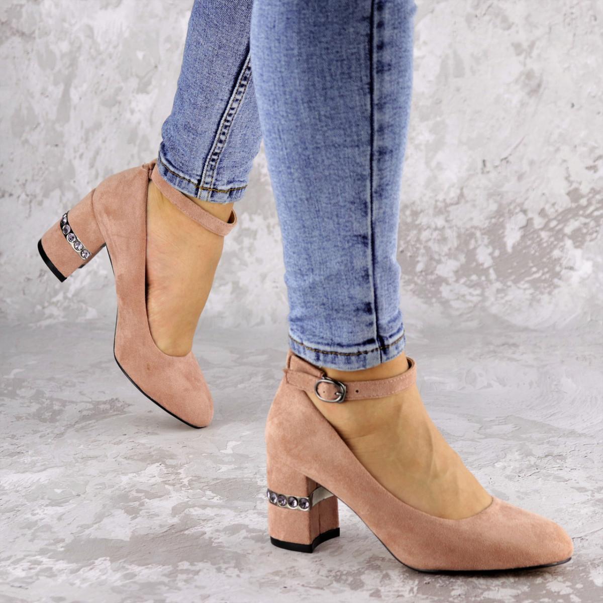 Женские туфли на каблуке розовые Bruno 2183 (36 размер)