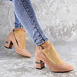 Женские туфли на каблуке розовые Bruno 2183 (36 размер), фото 4