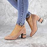 Женские туфли на каблуке розовые Bruno 2183 (36 размер), фото 5