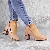 Женские туфли на каблуке розовые Bruno 2183 (36 размер), фото 6