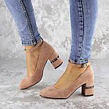 Женские туфли на каблуке розовые Bruno 2183 (36 размер), фото 8