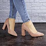 Женские туфли на каблуке розовые Gouda 1941 (37 размер), фото 2