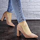 Женские туфли на каблуке розовые Gouda 1941 (37 размер), фото 3