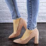 Женские туфли на каблуке розовые Gouda 1941 (37 размер), фото 4