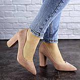 Женские туфли на каблуке розовые Gouda 1941 (37 размер), фото 5