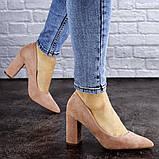Женские туфли на каблуке розовые Gouda 1941 (37 размер), фото 6