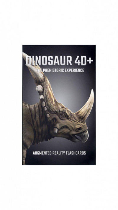 Обучающие карты Dinosaur 4D с дополненной реальностью Динозавры 4D