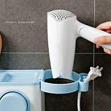 Органайзер диспенсер держатель для ванной Bathroom Toothbrush Holder Wall Mount на стену (4 стакана), фото 4