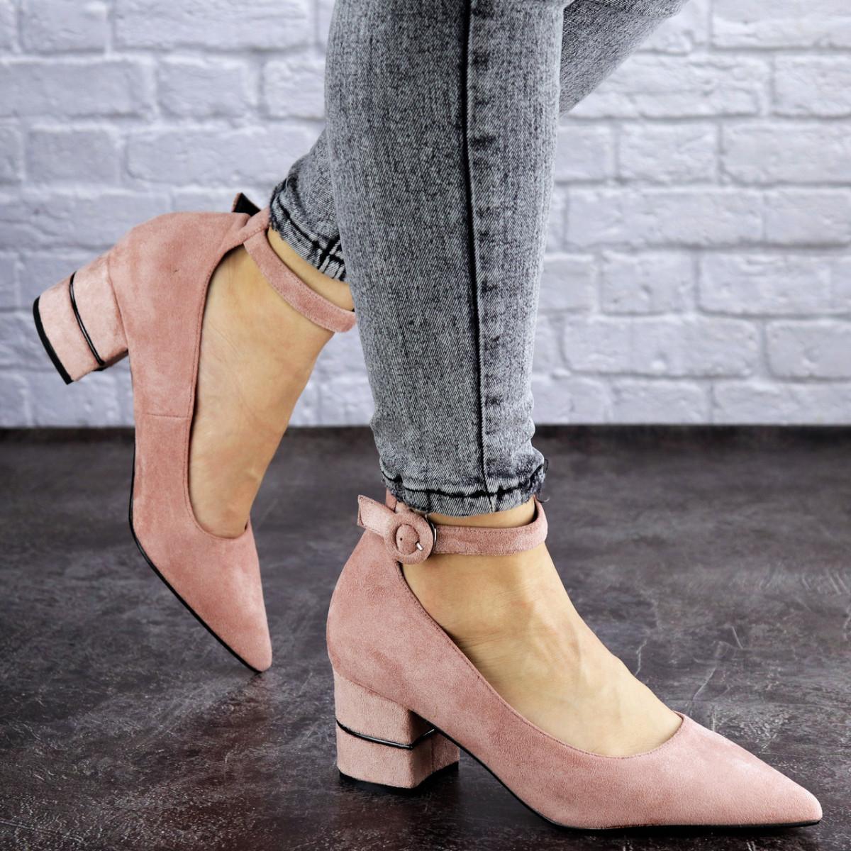 Женские туфли на каблуке розовые Tease 2027 (36 размер)
