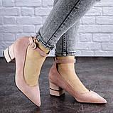 Женские туфли на каблуке розовые Tease 2027 (36 размер), фото 2