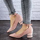 Женские туфли на каблуке розовые Tease 2027 (36 размер), фото 3