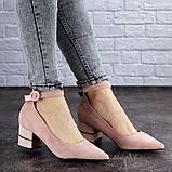 Женские туфли на каблуке розовые Tease 2027 (36 размер), фото 5