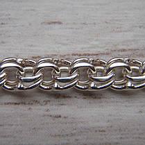 Срібна ланцюжок, 450мм, 8 грам, плетіння Бісмарк, світле срібло, фото 2