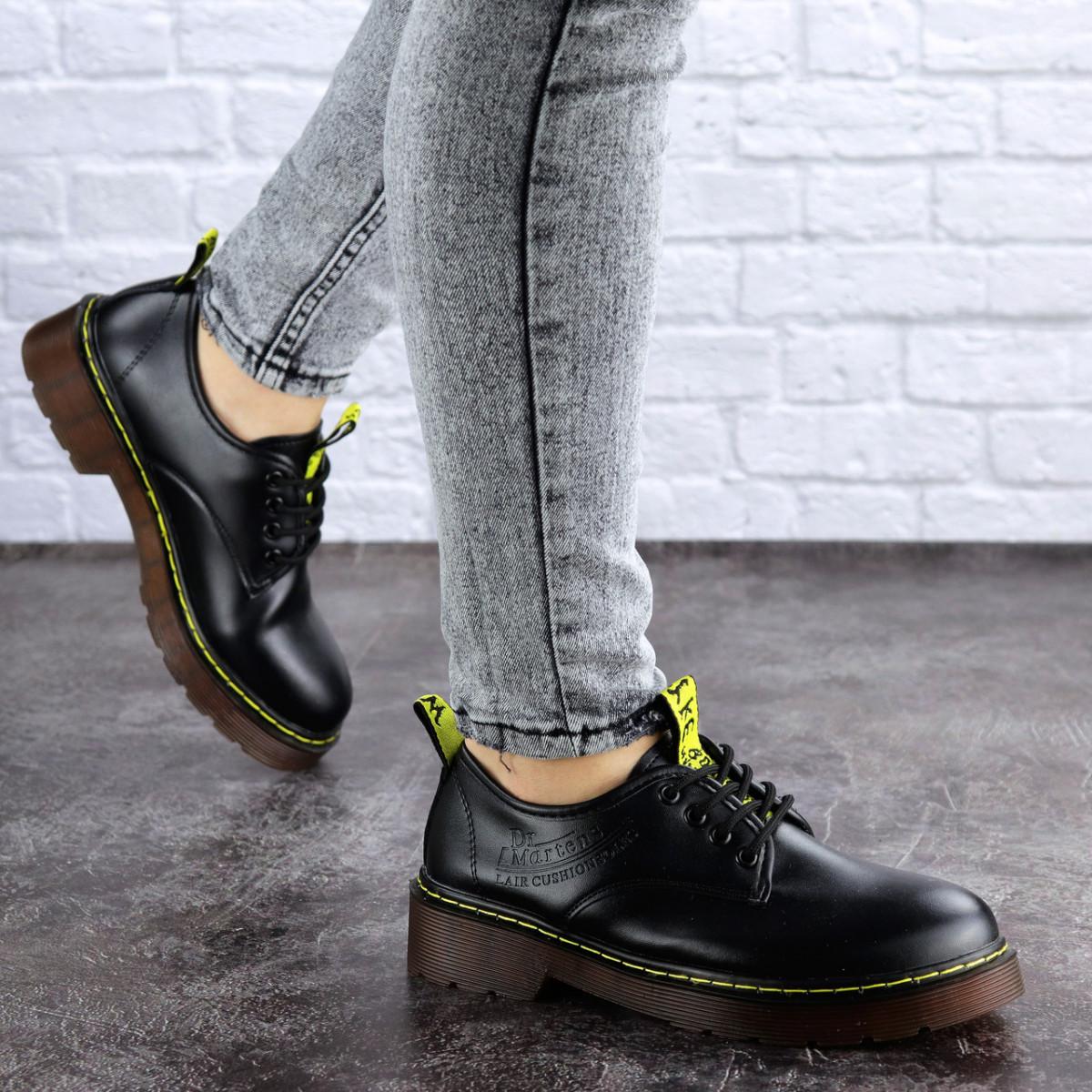 Женские туфли на каблуке черные Ron 1949 (36 размер)