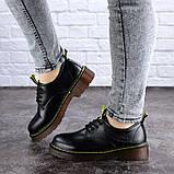 Женские туфли на каблуке черные Ron 1949 (36 размер), фото 3