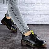 Женские туфли на каблуке черные Ron 1949 (36 размер), фото 4
