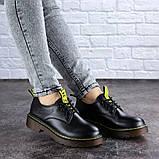 Женские туфли на каблуке черные Ron 1949 (36 размер), фото 6