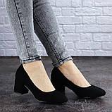Женские туфли на каблуке черные Slider 2032 (37 размер), фото 2