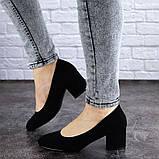 Женские туфли на каблуке черные Slider 2032 (37 размер), фото 3