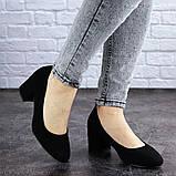 Женские туфли на каблуке черные Slider 2032 (37 размер), фото 4