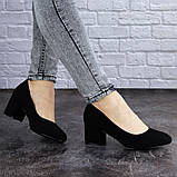 Женские туфли на каблуке черные Slider 2032 (37 размер), фото 5