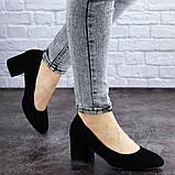 Женские туфли на каблуке черные Slider 2032 (37 размер), фото 6