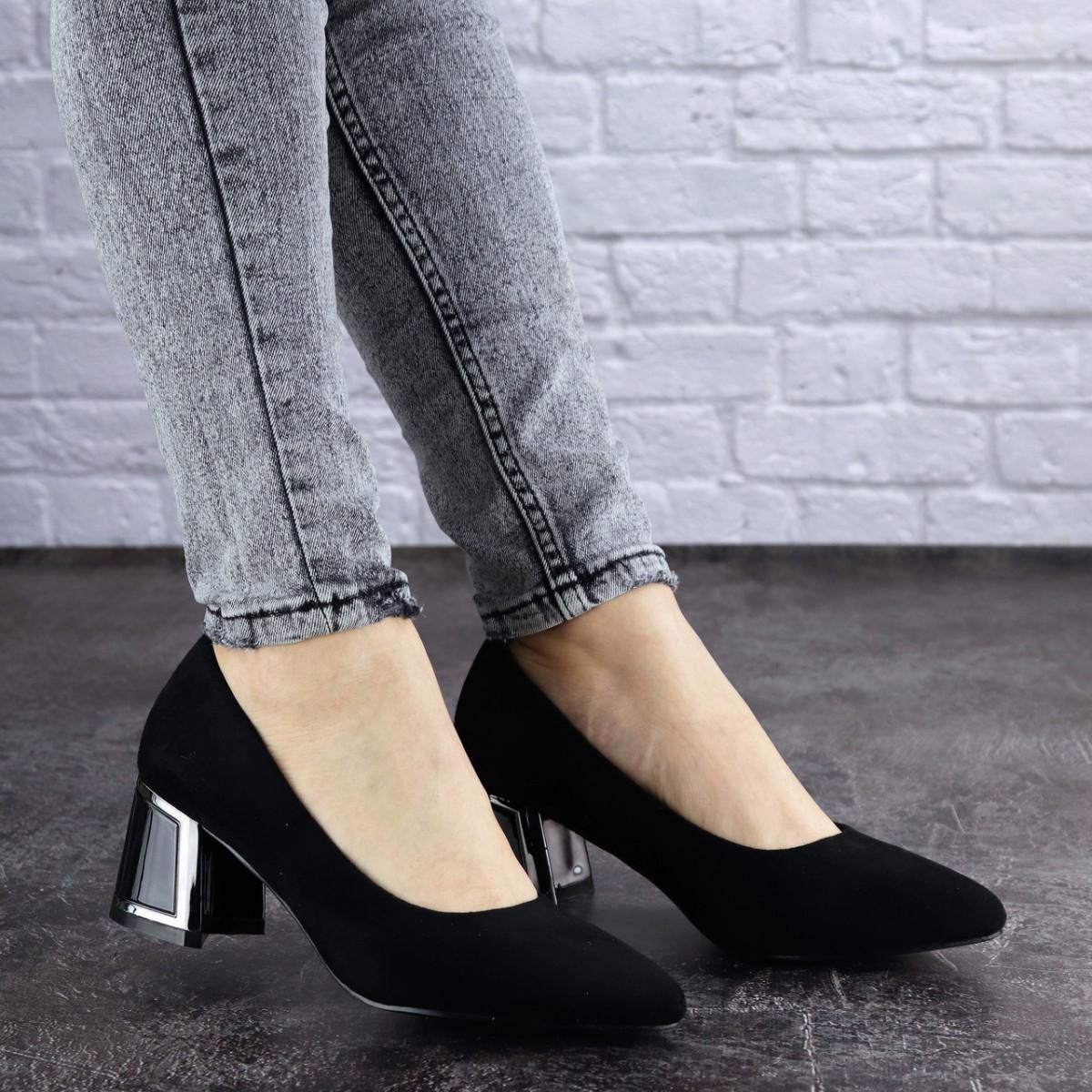 Женские туфли на каблуке черные Vinnie 2011 (36 размер)