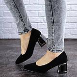 Женские туфли на каблуке черные Vinnie 2011 (36 размер), фото 3
