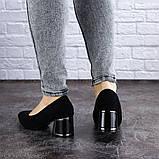 Женские туфли на каблуке черные Vinnie 2011 (36 размер), фото 4