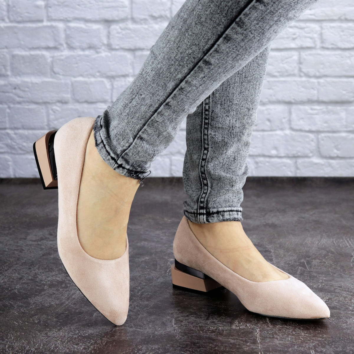 Женские туфли пудровые Tally 2026 (36 размер)