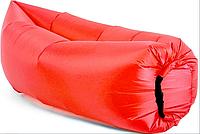 Надувной лежак, шезлонг, диван, мешок, матрас Ламзак Lamzac + Сумка для переноски Красный