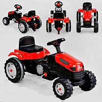 Трактор педальный 07-314 (1) цвет КРАСНЫЙ, клаксон на руле, в коробке