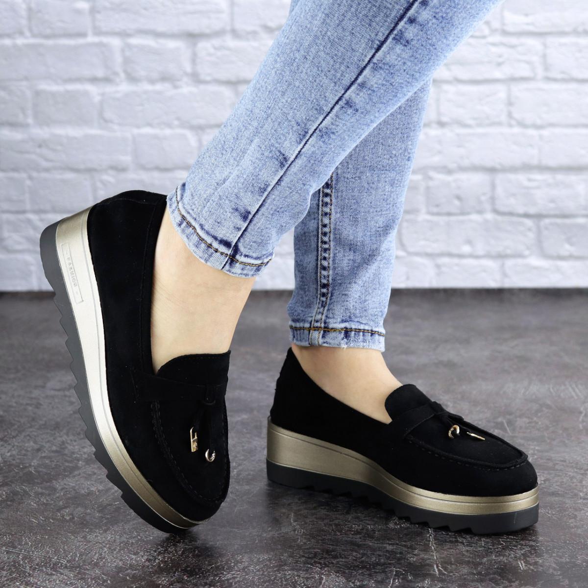 Женские туфли черные Boot 1923 (36 размер)