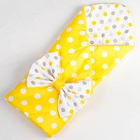 Конверт демисезонный хлопковый на выписку BabySoon Солнышко 80 х 85см желтый (040)