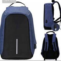 Рюкзак антивор с USB синий