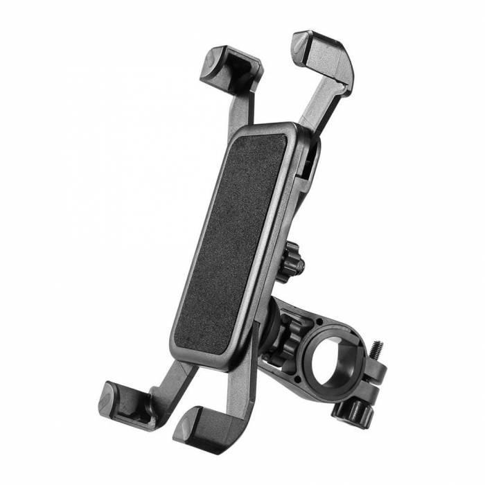 Универсальный держатель для телефона на руль велосипеда, мотоцикла черный