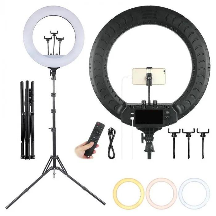 Профессиональная светодиодная кольцевая лампа Soft Ring Light RL-1806 45 см 55 Вт со штативом