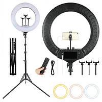 Профессиональная светодиодная кольцевая лампа Soft Ring Light RL-1806 45 см 55 Вт со штативом, фото 1