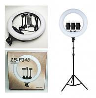Профессиональная светодиодная кольцевая лампа ZB-F348 45см 55Вт на 512 светодиодов со штативом и чехлом (3, фото 1