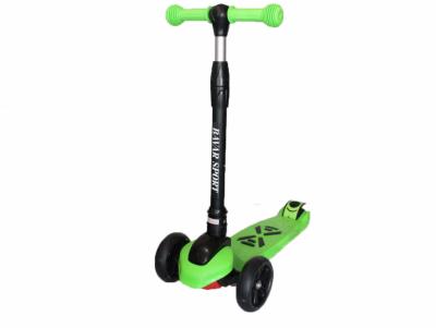 Самокат трехколесный со складной ручкой Smart зеленый (GS08036)