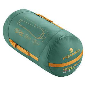 Спальный мешок Ferrino Lightec SM 850/+4°C Green/Yellow (Left), фото 2