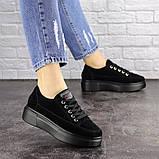Женские черные замшевые кроссовки Ruby 1689 (38 размер), фото 2