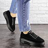 Женские черные замшевые кроссовки Ruby 1689 (38 размер), фото 4
