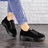 Женские черные замшевые кроссовки Ruby 1689 (38 размер), фото 5