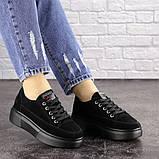 Женские черные замшевые кроссовки Ruby 1689 (38 размер), фото 6