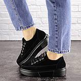 Женские черные замшевые кроссовки Ruby 1689 (38 размер), фото 7