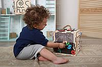 """Бізікуб """"Active""""  (розвиток мілкої моторики) для дітей від 1 року, розмір 200/200 мм"""