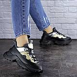 Женские черные кроссовки Button 1745 (36 размер), фото 2